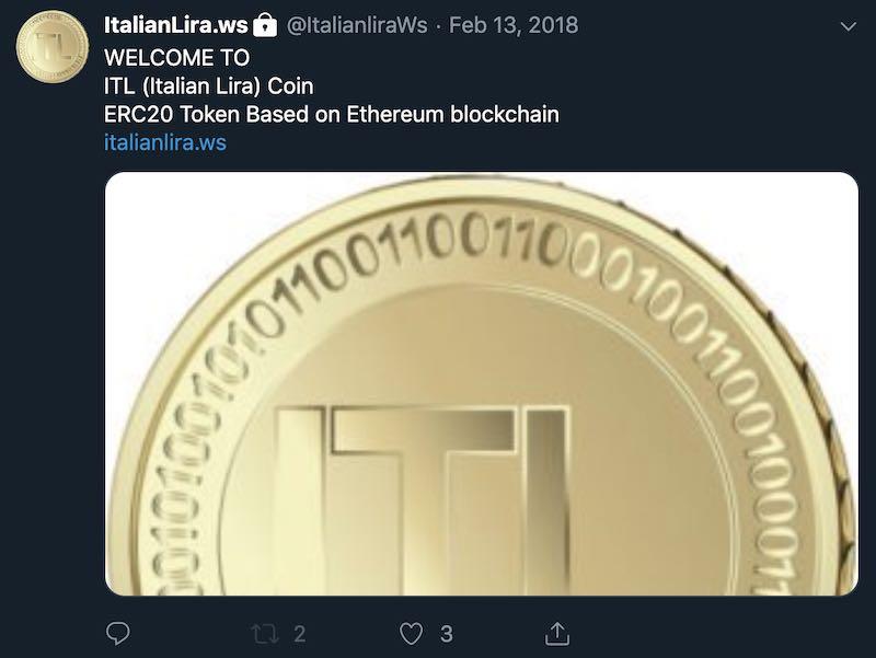 italian lira ITL twitter