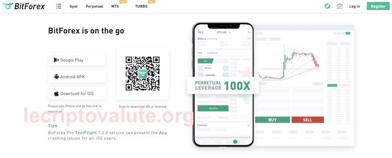 bitforex mobile trading exchange