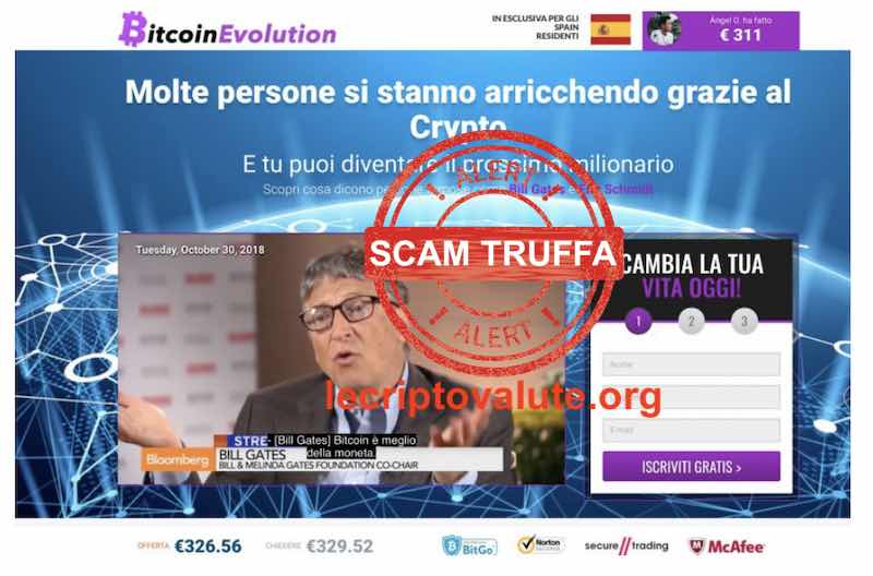bitcoin revolution evolution truffa