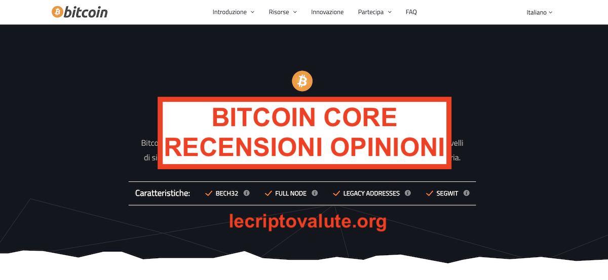 come installare bitcoin core bitcoin robinhood di trading