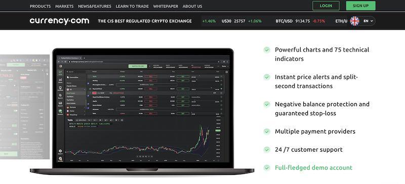 currency.com caratteristiche piattaforma token