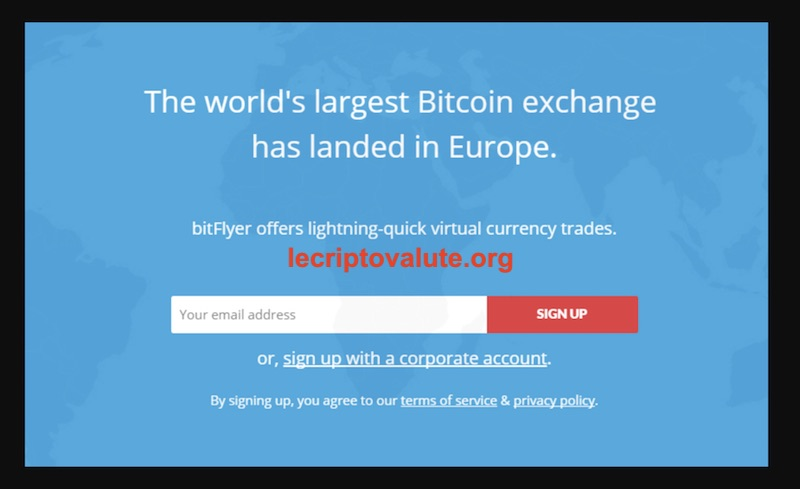 bitflyer exchange bitcoin in euro come funziona
