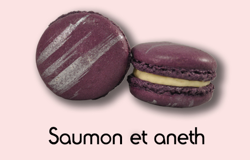 Macaron saumon et aneth
