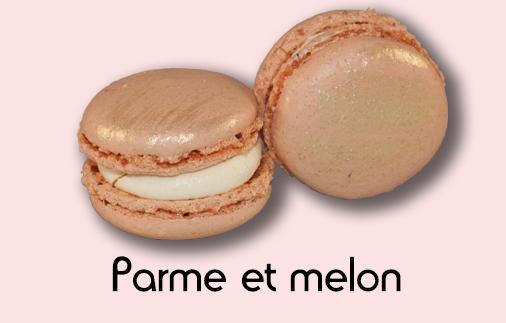 Macaron parme et melon