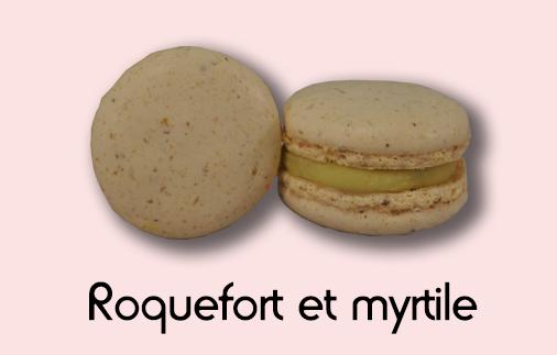 Macaron roquefort et myrtille