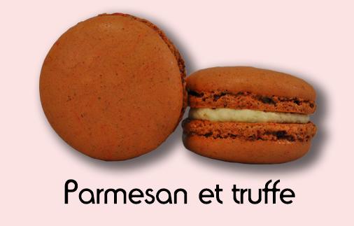 Macaron parmesan et truffe
