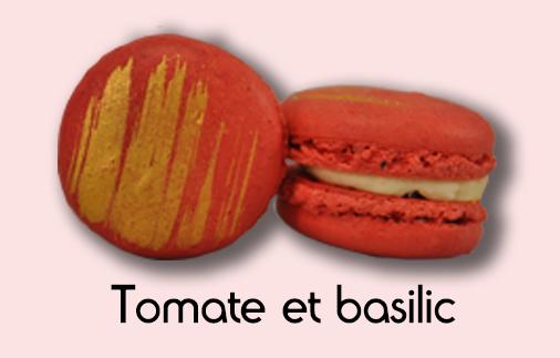 Macaron tomate et basilic