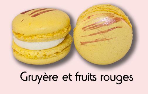 Macaron gruyère et fruits rouges