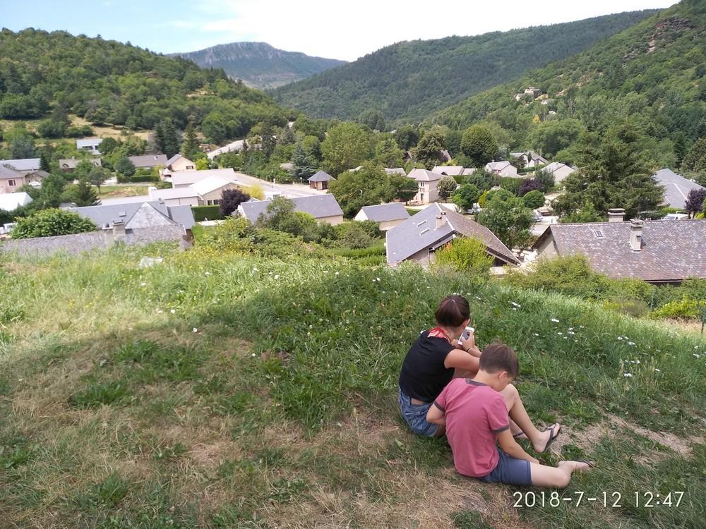 petite halte au dessus du village