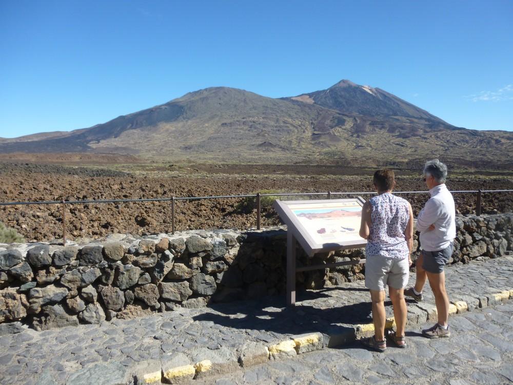 """A l'entrée de la """"caldera"""" du Teide"""