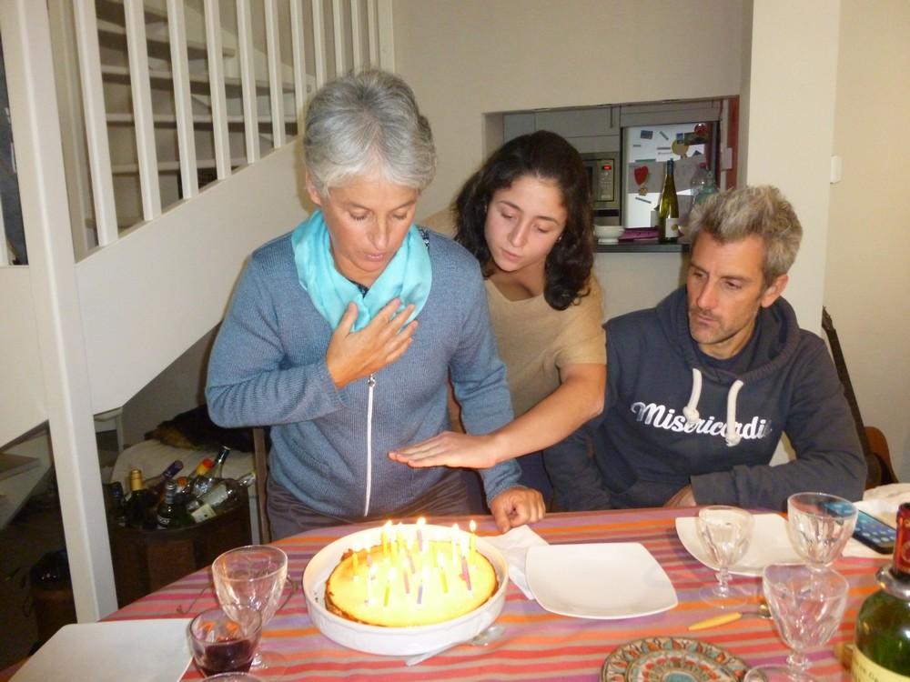 préparation car il y a beaucoup de bougies