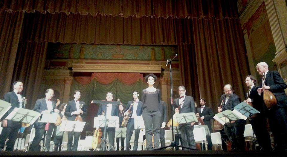 """Roma, Teatro di Villa Torlonia 11/4/2015 - """" La tradizione italiana e giapponese delle orchestre a plettro - Shizuoka Mandolin Association (M° Hirotaka Nozaki)  - Orch. Mand. R- (M° Teresa Fantasia)"""