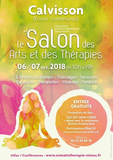 Salon des arts et des thérapies - 6 et 7 octobre 2018 - Calvisson (30)