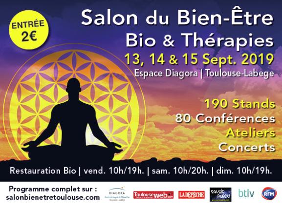 Salon du bien-être de Toulouse - 13, 14 et 15 septembre 2019