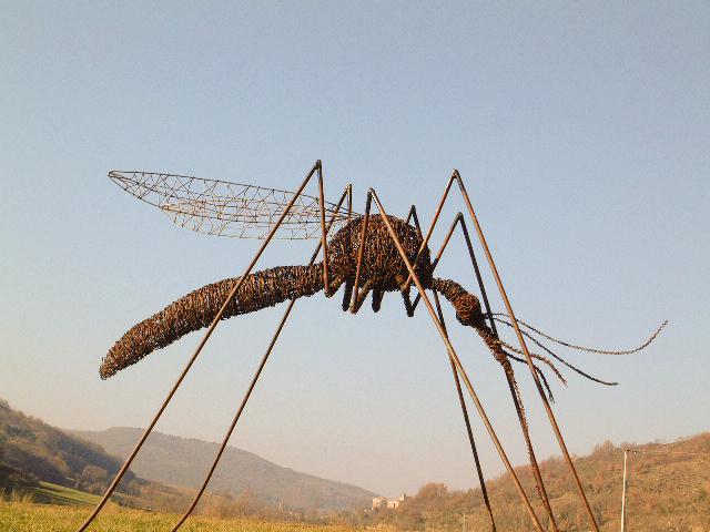 Deev Vanorbeek, artdeev     mostique metal art  100 x 175 x 175 cm             www.vanorbeek.com                                                              fil de fer , metal art,  sculpture d'insecte, recyclage
