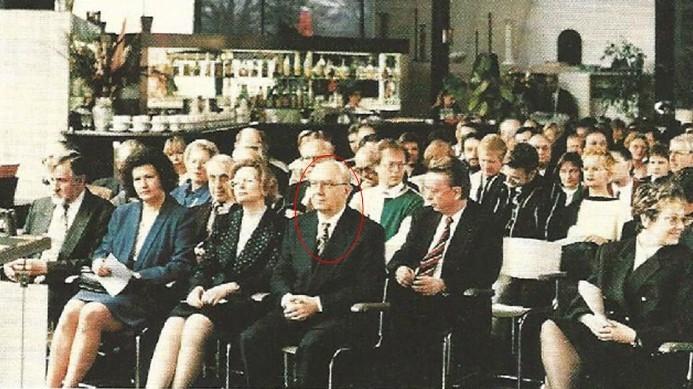 Bei der Abschiedsfeier für den Autor - Berlin 1996