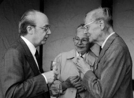 Mit Prof. Dr. med. Roland Brückner und seiner Frau beim 3. IVBV-Jahreskongress - Fellbach 1990
