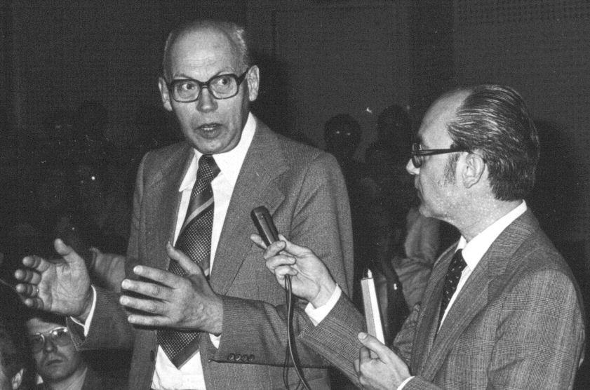 Mit Hans-Joachim Haase bei dessen Verabschiedung aus der SFOF - Berlin 1980