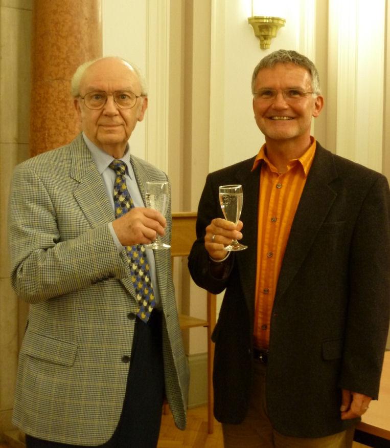 Mit Georg Stollenwerk, Präsident der IVBS, nach seinem Vortrag in der Beuth Hochschule - Berlin 2011