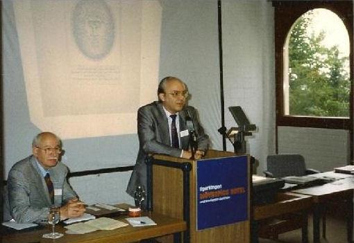 Mit Dr. med. David Pestalozzi, erster Präsident der IVBV, beim Gründungskongress - Egerkingen, Schweiz 1988