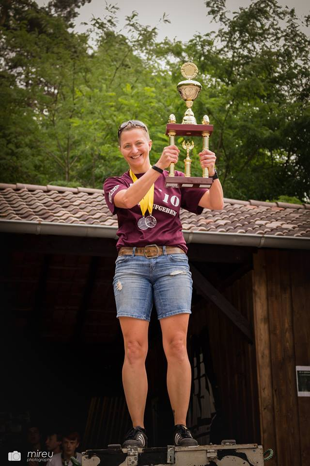 Sandra Pokern - Siegerin des Standardlaufs.