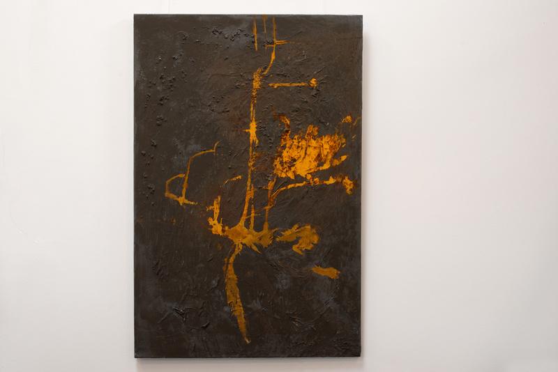 Rost IV, Künstlerin Uschi Heubeck, Exponat auf Foto 120x80 cm, 670€