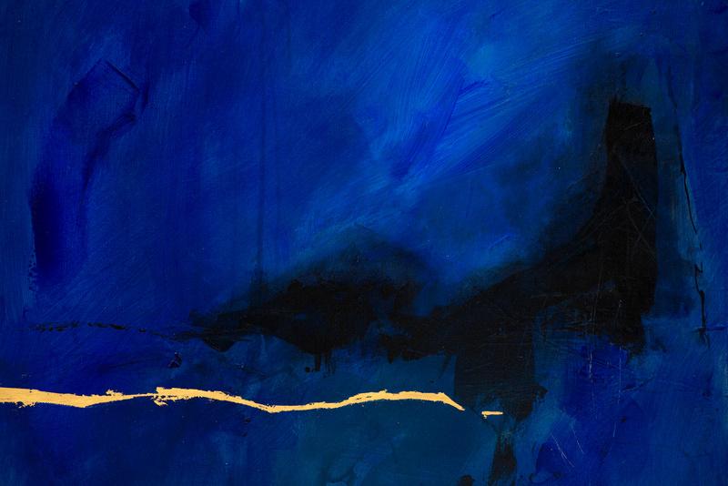 Der Ozean, Künstlerin Uschi Heubeck, Exponat auf Foto 60x60cm, 530€
