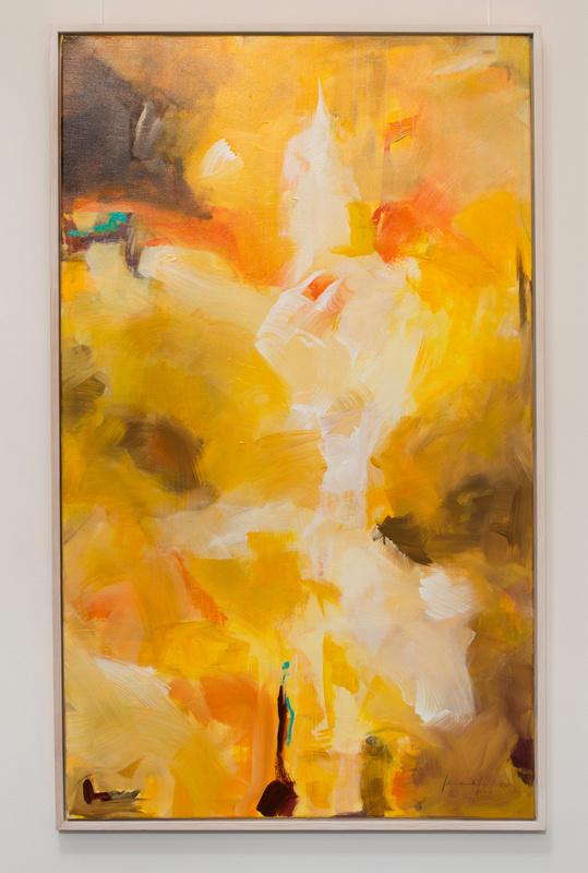 Sommer, Künstlerin Uschi Heubeck, Exponat auf Foto 150x90 cm, mit Asche 1.250 € / ohne Asche 1100€