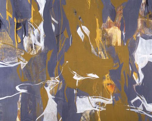 『 交差 』 1999   182.0cm×227.3cm  キャンバス 油彩
