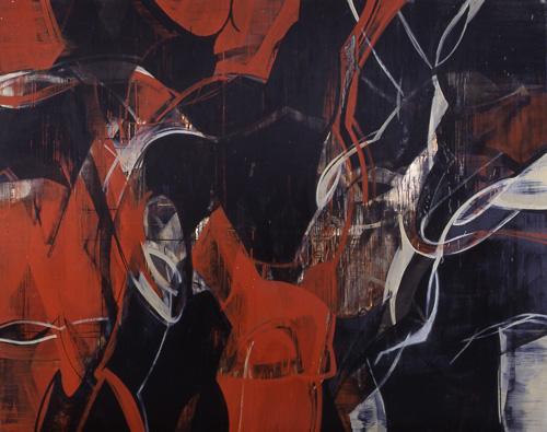 『 交差 』 1998 182.0cm×227.3cm  キャンバス 油彩
