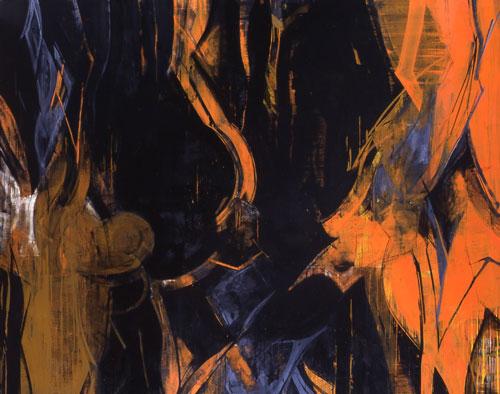 『 交差 』 1998 182.0cm ×227.3cm   キャンバス 油彩