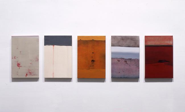 『 枕詞 』 2004   33.3cm×22.0cm(5枚組)  キャンバス 油彩