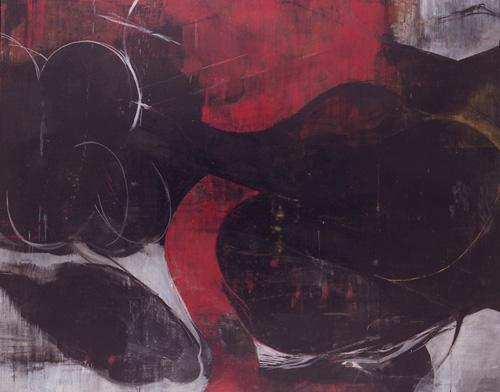 『 行方知れずの想い 』 1994   182.0cm×227.3cm  キャンバス 油彩