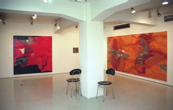 水村綾子展 〜母語〜 2001  ギャラリー山口(東京) 展示風景