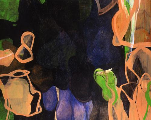 『 私の声できっと振り返るわ 』 1999  182.0cm×227.3cm  キャンバス 油彩