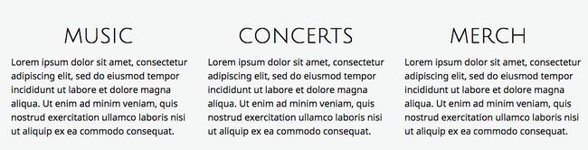 Sans icône, cette partie du site peut paraître un peu text-heavy.