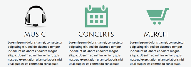 Des icônes avec différents styles ou couleurs entacheront l'harmonie de votre site.