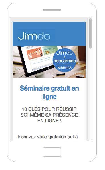 Campagne d'emailing adaptée à la vue sur mobile
