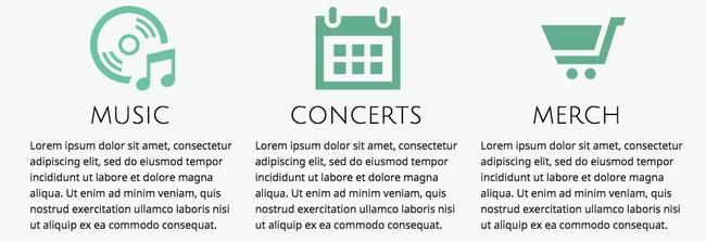 De simples icônes peuvent facilement améliorer la communication et le look de votre site.