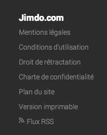 Capture d'une partie du footer de fr.jimdo.com