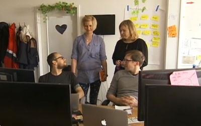 Photos de Magda, Brent, Yvonne et Enzo, employés à Jimdo.