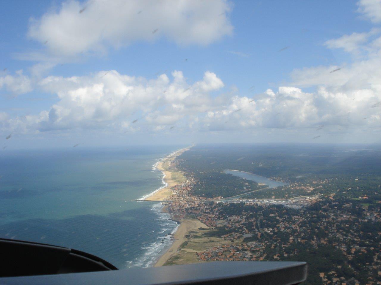 La côte à hauteur de Capbreton dans les Landes