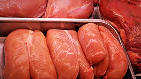 Direktverkauf von Geflügel essen ohne Schwein