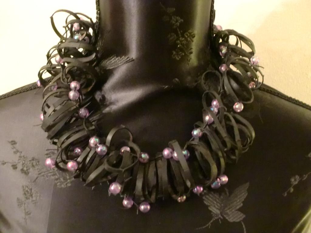 collier 'Boucle violet'