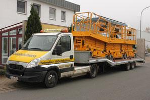 Schneiker Hubarbeitsbühnen mieten für Einsatz in Bielefeld
