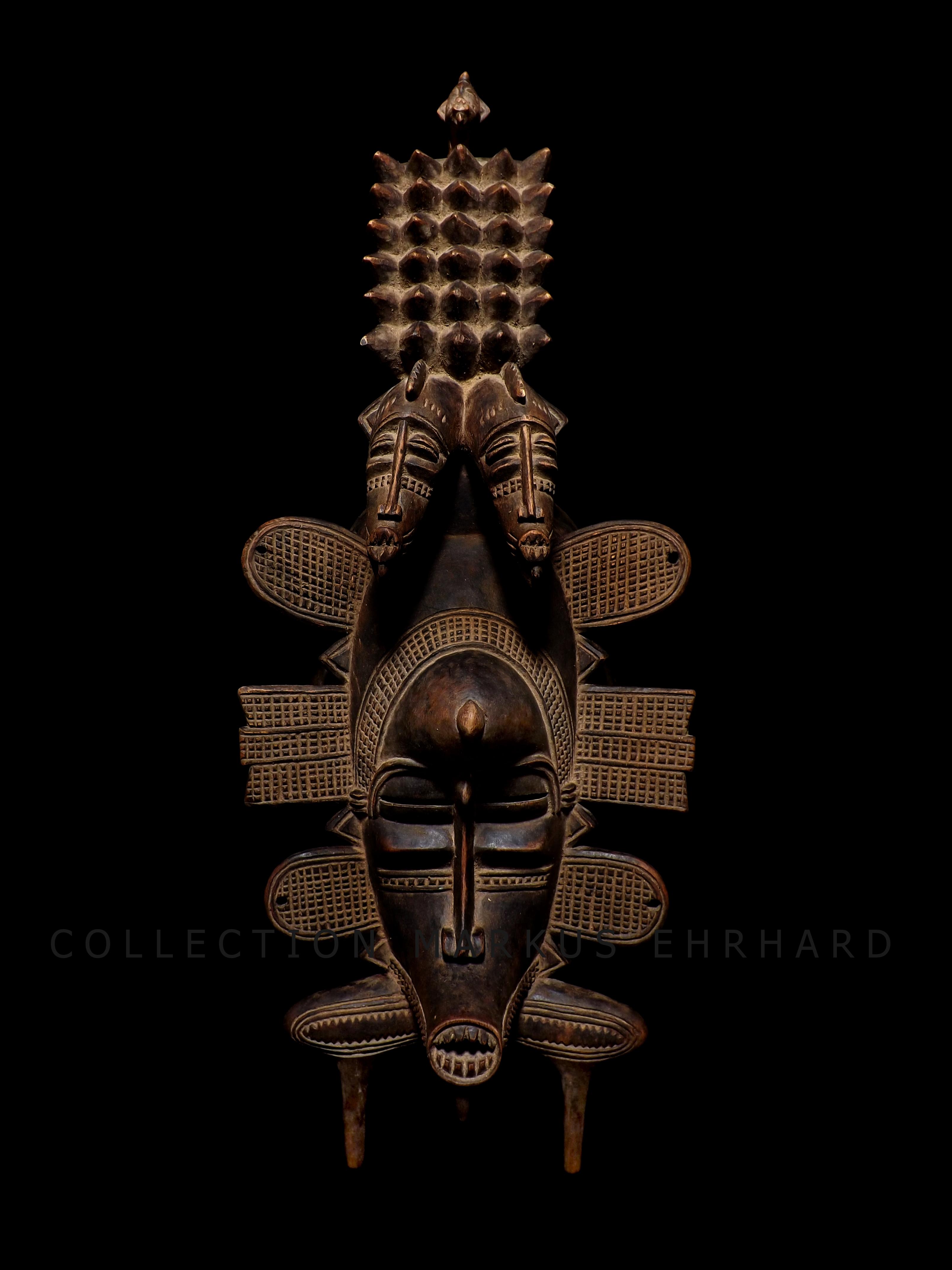 Kpelié mask by Bakari Coulibaly, Dickodougou, Senufo art