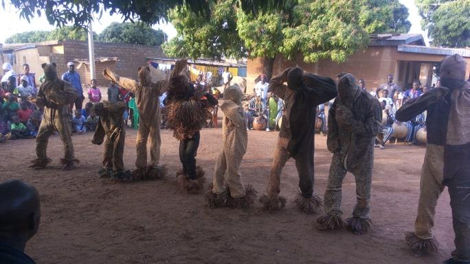 "The group of the dancing panthers ""Boloye de Koko"". Koko, a village next to Korhogo, March 2019. Photo by Souleymane Arachi."