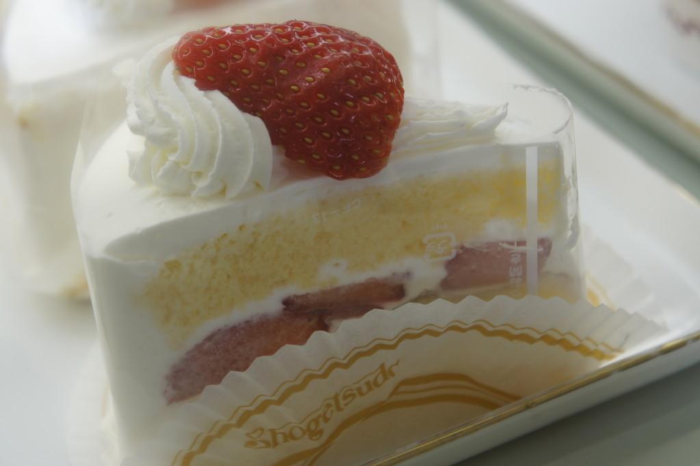 松月堂 苺ショートケーキ 460円(税込)