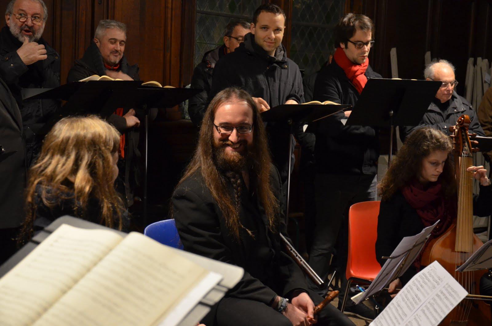 Répétition dans la sacristie à Saint-Maclou