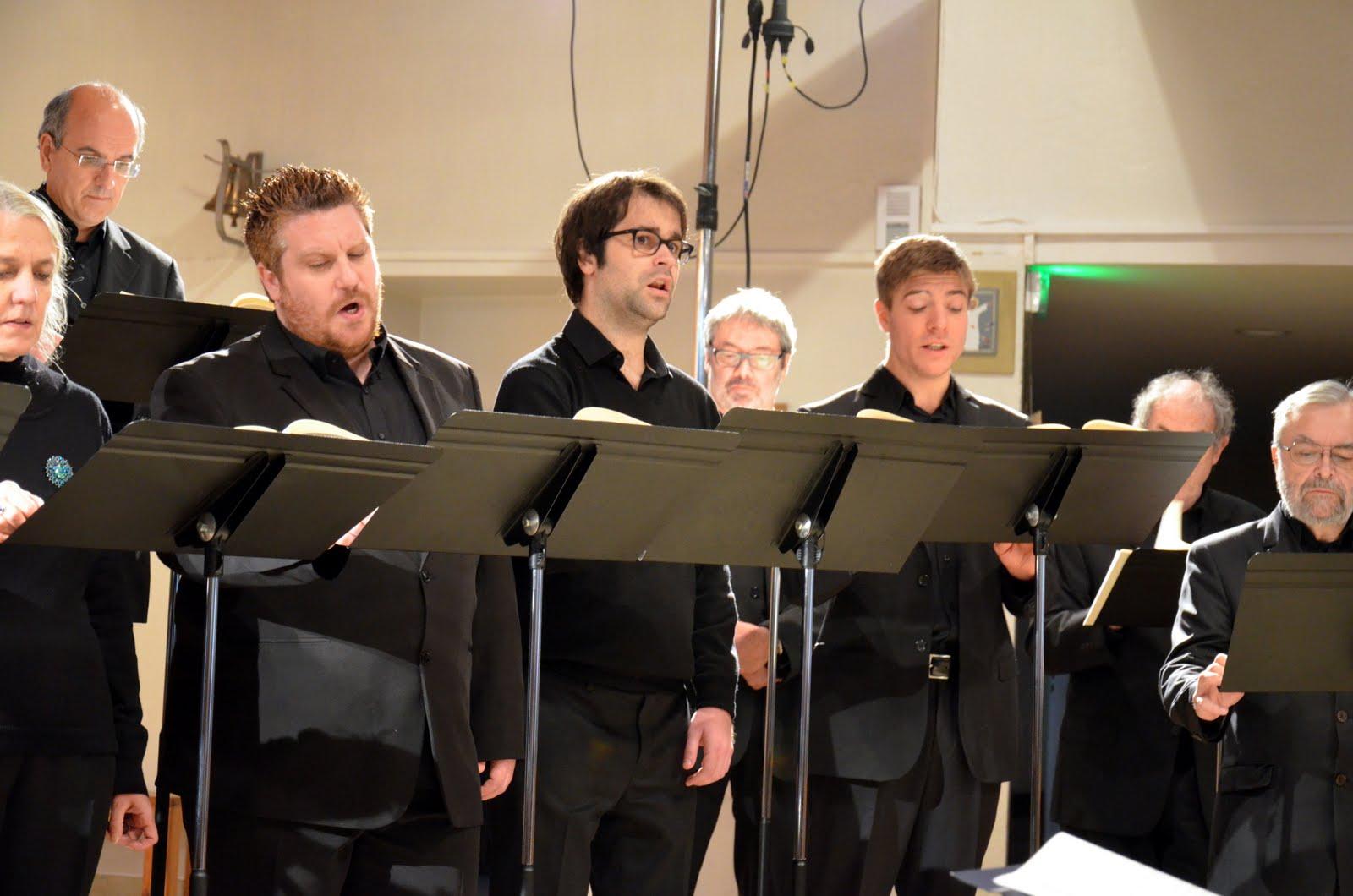 Concert à Saint-Jean-Bosco le 11 décembre 2016 : le trio d'hommes (Matthias, Christophe, Thierry)